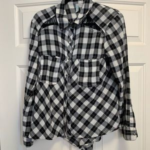 Free People plaid button up, oversized